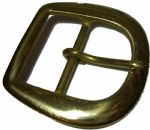 45mm 'D' Belt Buckle - 1 3/4 inches (45mm) Solid Brass. Code BUC011